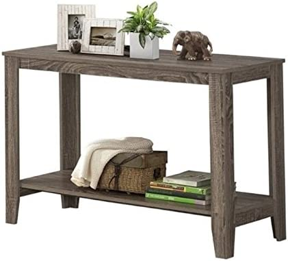 Pemberly Row Console Table in Dark Taupe