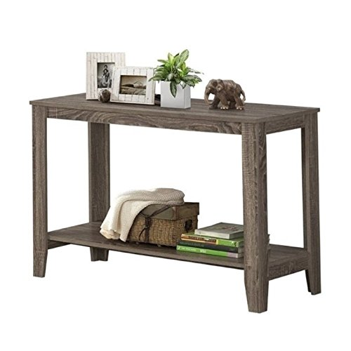 Pemberly Row Sofa Console Table in Dark Taupe