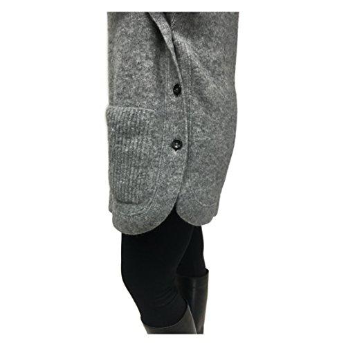 CREA CONCEPT maglia poncho donna lana grigio vestibilità regolare mod 20154
