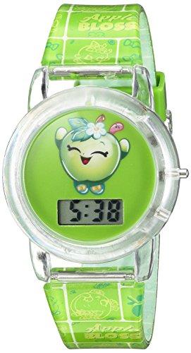 Shopkins Girl's Quartz Plastic Casual Watch, Color:Green (Model: KIN4027)