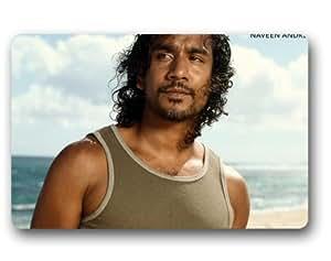 Lost Sayid diseño de interior y al aire libre Felpudo personalizado personalizado machine-wahable neopreno de goma Felpudo 23,6x 39,88cm