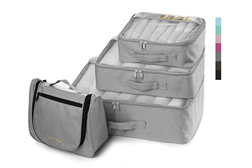 Lyceem Packing Organizers Value Set for Travel,311- grey by Piero Lorenzo