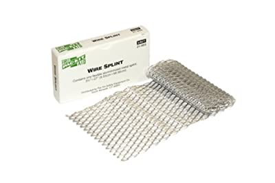 "Pac-Kit by First Aid Only 21-003 Aluminized Flexible Metal Wire Splint, 27"" Length x 3-3/4"" Width from Pac-Kit"