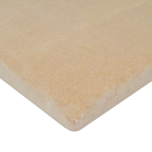 American Baby Company Fitted Velour Bassinet Sheet Made with Organic Cotton, Mocha