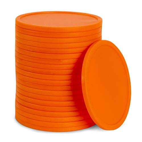 GoSports Giant Four in a Row Replacement Game Coins 3' Size Game Sets Only | Set of 21 Coins - Orange