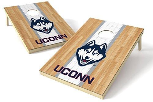 Wild Sports NCAA College Connecticut Huskies 2' x 3' Hardwood Cornhole Game Set [並行輸入品] B07FDQM4TJ