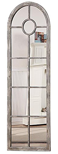 tall wall mirrors. Exellent Tall Metal Framed Tall Wall Mirror Window Pane Style Arched Top Distressed White  Finish Country Home Dcor Inside Mirrors G