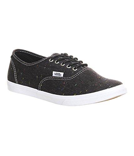 Vans Unisex Authentic Lo Pro (Speckle Linen) Black Sneaker-Black-3.5