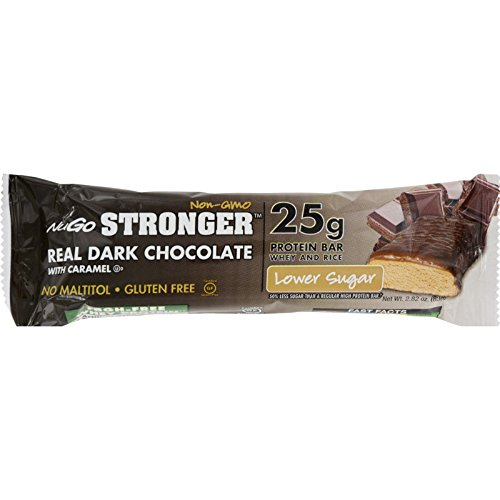 Shake Premium Nutrition (NuGO Nutrition Bar - Stronger Real Dark Chocolate - 2.82 oz - Case of 12)