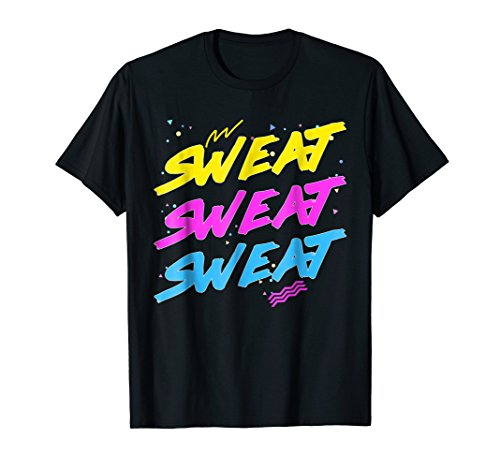 Adults or Child's Sweat Sweat Sweat 80s T-shirt in 5 colors for men or ladies
