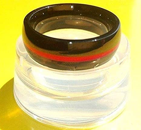 Clear jewelry lucite rezin plastic ring.Size 5,6,7,8,9,10 Free USA shipping!
