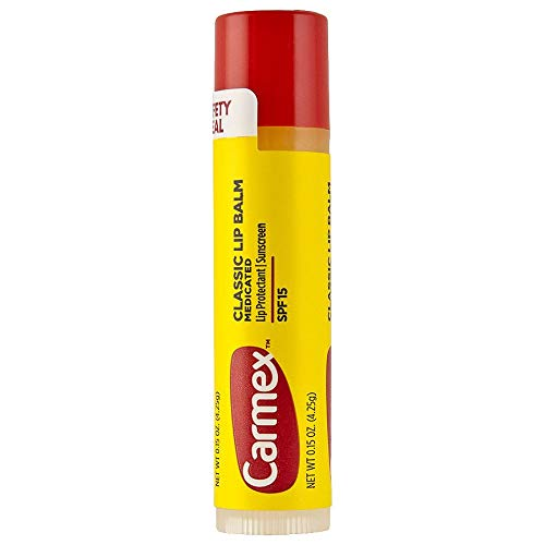 Lip Counter Display Balm (.15OZ Carmex Lip Balm, Pack of 24)