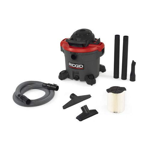 RIDGID 50323 1200RV Wet Dry Vacuum, 12-Gallon Shop Vacuum with 5.0 Peak HP Motor, Casters, Pro Hose, Drain, Blower Port, Accessory Storage by Ridgid
