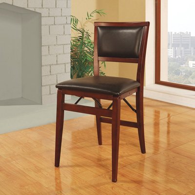 Review Linon Keira Pad Folding Chair, Set of 2
