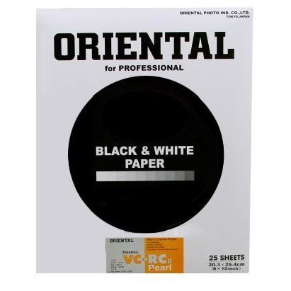 Oriental Seagull VC-RCII RP Pearl Cool Tone 8x10 25 Sheets Photographic Paper, White/Black (18-RVC810-25P)