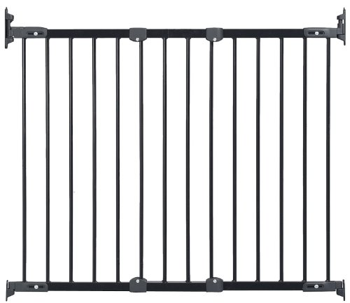 KidCo Angle Mount Safeway Gate – Black (Metal) – 28″ to 42.5″ with Stairway Installation Kit