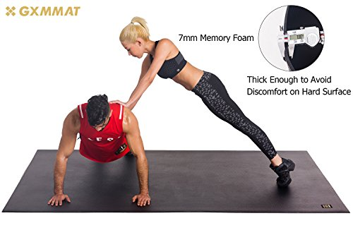 Gxmmat Extra Large Exercise Mat For Partner Workout Thick