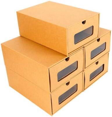 Kaibrite - Caja para zapatos con cajón (10 unidades, cartón grueso): Amazon.es: Hogar