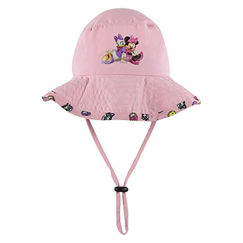 Disney Minnie and Mickey Girls and Boys Sun Boonie Hat - 100% Cotton (Pink) (Hat Summer)