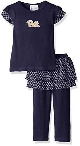 Two Feet Ahead NCAA Pittsburgh Panthers Girls Toddler Girls Shirt & Legging Settoddler Girls Shirt & Legging Set, Navy, 4T