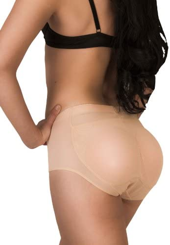 Butt Pads Fake Butt Silicone Buttocks Shaper Panty with Smooth Control Instant Lift and Shape Medium Beige