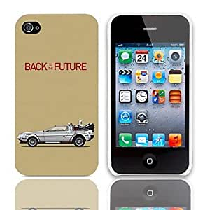 RC - Back to the Future Design Hard Case with 3-Pack Screen Protectors for iPhone 4/4S