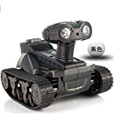 Microgear EC10418-Black Remote Control Live Video WiFi Controlled RTR Spy Tank Camera Fun