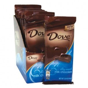 Dove Silky Smooth Milk Chocolate Large Candy Bar 3.3 oz (Pack of 12) Dove Candy Bar