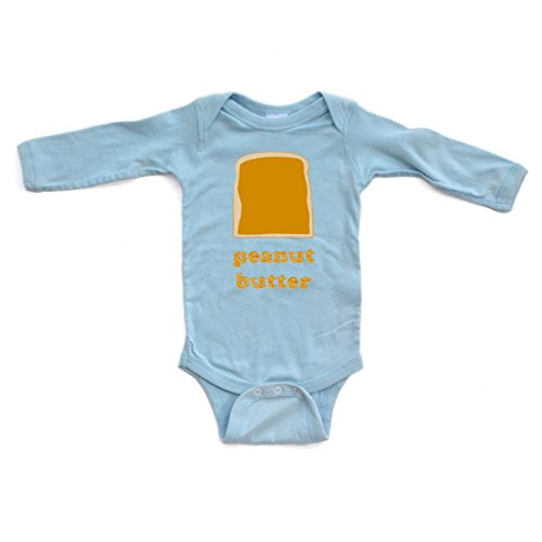 Cute Twins Best Friends Peanut Butter Long Sleeve Baby Bodysuit (Goes With (Peanut Butter And Jelly Baby Halloween Costumes)