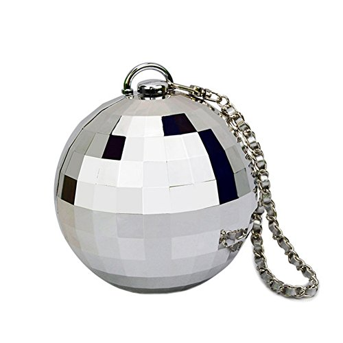 Alot High Grade Fashion Bags Models Ball Round Mini Evening Handbags Ladies(silver£©