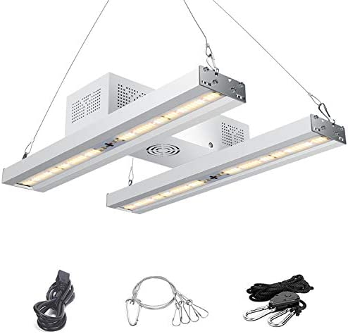 1000W LED Grow Light with Timer, EnjoYield Dual Series Sunlike Full Spectrum Grow Lights White and 660nm Red Grow Lamp for Indoor Plants Veg Flower, Dimmable and Daisy Chain Actual 230 Watts