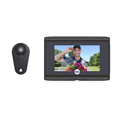 Yale YRV740-WI Real Living Rechargeable Digital Door Viewer with HD Camera and W,