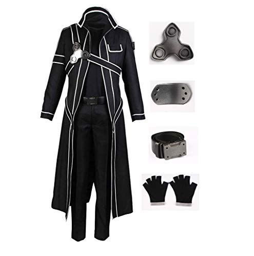DAZCOS US Size Men's Kirito Cosplay Costume (Men M) Black -