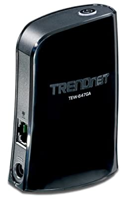 Trendnet Wireless N Gaming Adapter Tew-647ga Black from TRENDnet