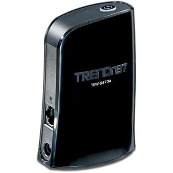 TRENDnet Wireless N Gaming Adapter TEW-647GA (Black)