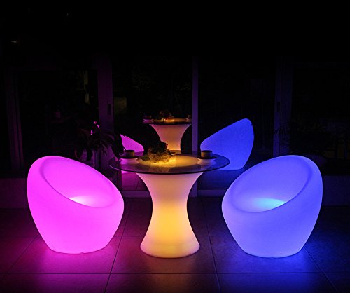 hot sale solar plastic furniture chair with led light Patio Dining Chairs for outdoor garden event decoration (Led Outdoor Furniture)