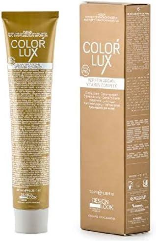 DESIGN LOOK Tinte Color Lux 9.0 Rubio CLARÍSIMO 100ML, Estandar
