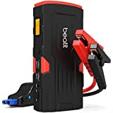 Beatit D11 800A Peak 18000mAh 12V Portable Car Jump Starter (up to 7.5L Gas Or 5.5L Diesel) with Smart Jumper Cables Auto Battery Booster Power Pack