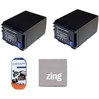 2-Pack of BP-827, BP827 Batteries for Canon Vixia HF11, HF20, HF21, HF200, HFG10, HFG20, HFM30, HFM31, HFM32, HFM40, HFM41, HFM300, HFM301, HFM400, HFS10, HFS11, HFS20, HFS21, HFS30, HFS100, HFS200, HG20, HG21, XA10 Camcorder