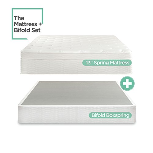 Sleep Master iCoil 13 Inch Euro Top Spring Mattress and BiFold Box...