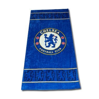 Chelsea Football FC Blue Border Beach Bath Towel by Chelsea F.C.