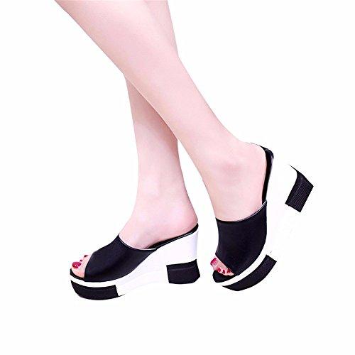 Black De Verano Mujer Zapatos Tabla Zapatillas Antideslizante Impermeable De Playa Zapatillas De YUCH 68HAf7W8