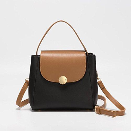 Tote Shoulder Bag Messenger Bag Trend Fashion Color Contrast Fashion Women Bag (size: 22 * 9 * 21cm) (light Gray) Black