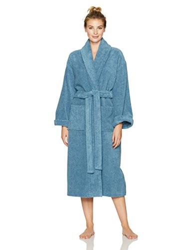 Pinzon Terry Cotton Bathrobe, Marine, Medium/Large ()