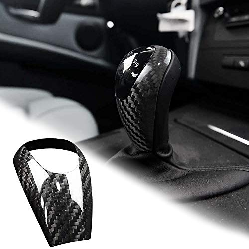 AIRSPEED Carbon Fiber Gear Shift Knob Cover Trim for BMW M3 M5 M6 Accessories(Black)