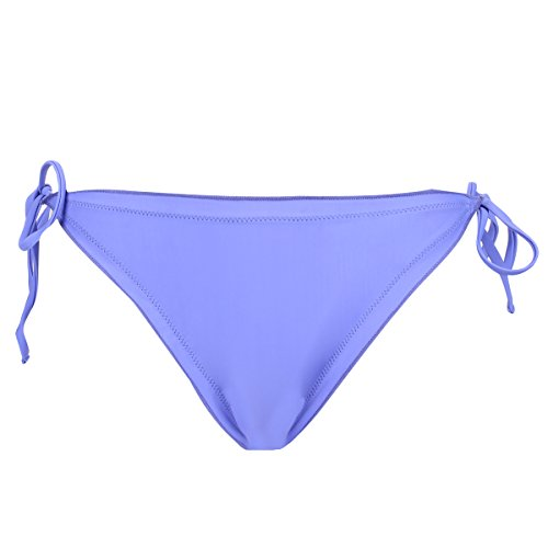 Purple Side Tie Bottom (Sexy Ruffle Edge Tie Side Solid Bikini Bottom, Purple XL)