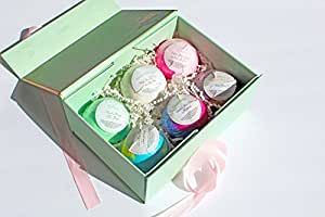 Luxury Bath Bombs Classic Box, made in the USA, Argan oil, Ultra Lush, Vegan, Aromatherapy, Spa Relaxation, Moisturizing. fizzy Great for Mother's day gift Birthday gift Anniversary Gift Cruelty free