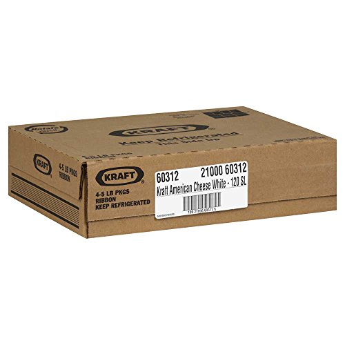 Kraft Regular American Sliced White Cheese, 5 Pound -- 4 per case. by Kraft (Image #1)
