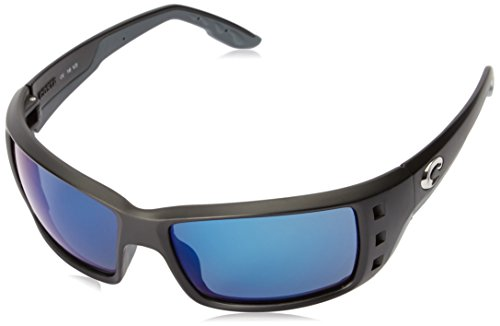 Costa del Mar Unisex-Adult Pawleys PT 11 OBMP Polarized Iridium Oval Sunglasses, Matte Black, 56.2 - Costa Sunglasses Pawleys