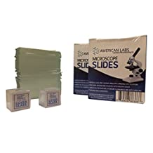 AmScope BS-144P-200S-22-A 144 Blank Microscope Slides and 200 Cover Glass Pre Cleaned - 2 Packs Ground Edges Satisfaction Guaranteed